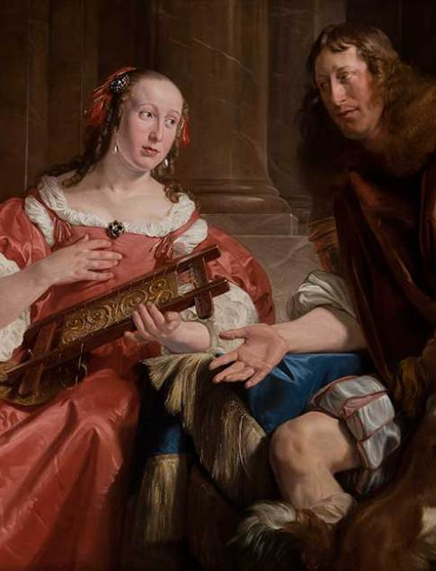 Jan de Bray (Dutch, about 1627–1697)  A Couple Represented as Ulysses and Penelope, 1668  Oil on canvas  43 7/8 x 65 3/4 in. (111.4 x 167 cm.)  55 5/16 x 76 13/16 x 4 1/2 in. (140.5 x 195.1 x 11.4 cm.) (frame)  Collection of the Speed Art Museum, Gift of the Charter Collectors 1975.24