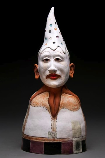 Melinda Crider (Waleska, Georgia, b. 1951) Charmer, 2013 Clay, beeswax, and graphite 25 1/2 H x 13 W x 9 D inches