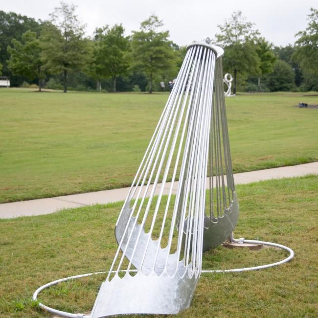 Deborah La Grasse (Florida, b. 1953), Union, 2010, aluminum, ca. 72 x 11 x 48 inches