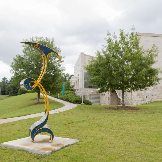 Luke Achterberg (Kentucky, b. 1980), Fettle, 2011, painted steel, ca. 138 x 48 x 42 inches