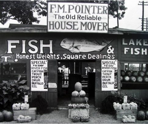Walker Evans (American, 1903–1975) Fish Market near Birmingham, Alabama, 1936 Unsigned, from Ives-Sillman portfolio printed under the artist's supervision in 1971 Edition: 100 Gelatin silver print Courtesy of Jackson Fine Art