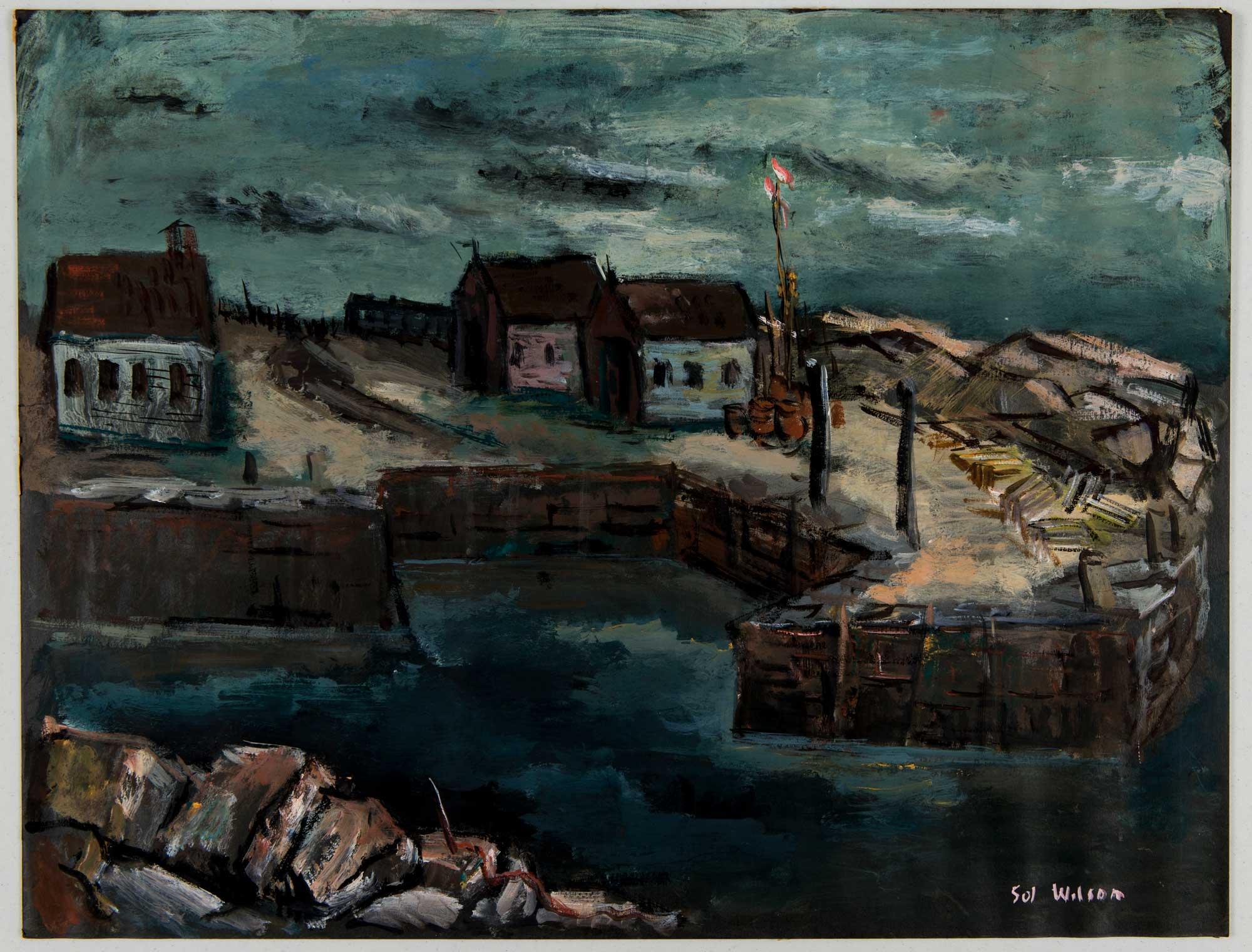Landscape of a fishing village