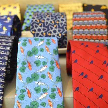 Mens' ties folded.