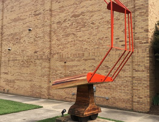 Submitted photo: Kurt Dyrhaug (Texas, b. 1966) Combine Wing II, 2017 Steel and wood