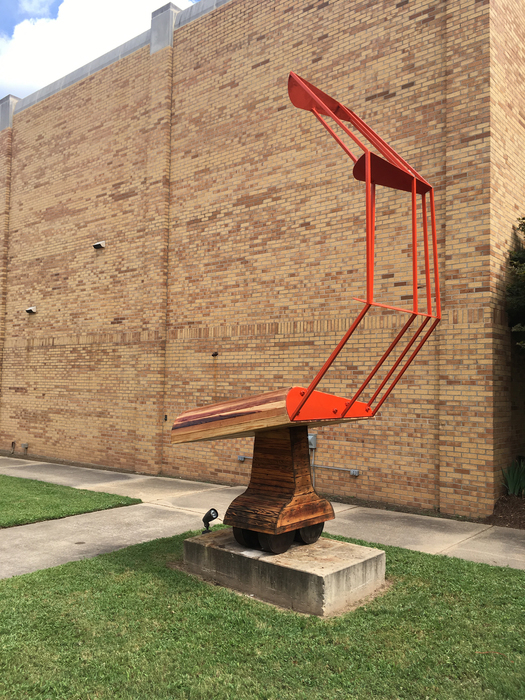 Submitted photo: Kurt Dyrhaug (Texas, b. 1966) Combine Wing II, 2017 Steel and wood