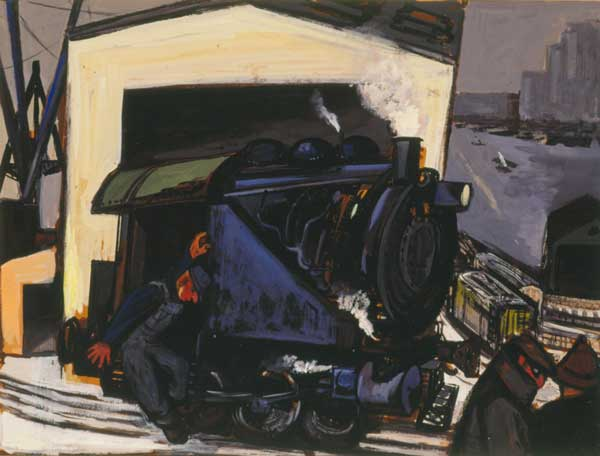 Gregorio Prestopino (American, 1907–1984) Donkey Engine, 1948 Gouache on paper Jule Collins Smith Museum of Fine Art, Auburn University; Advancing American Art Collection 1948.1.29