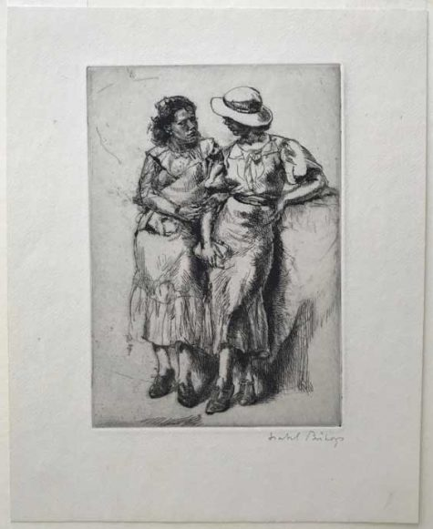Isabel Bishop (American, 1902–1988) Noon Hour, 1935 Published 1946 in an edition of 250 Etching 1935 6 7/8 x 4 13/16 inches Courtesy of Pia Gallo