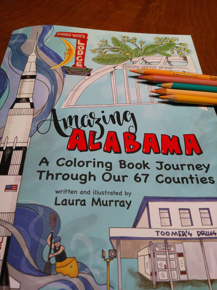 Cover of Amazing Alabama coloring book by Laura Murray