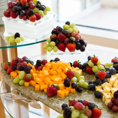 Fruit and cheese display by Ursula's Catering