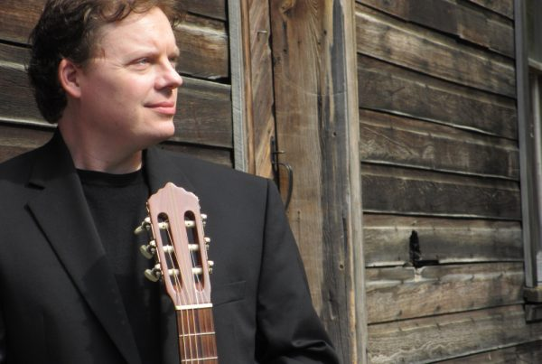 Photo of Classical guitarist Luther Enloe. Photo credit: Victoria Enloe