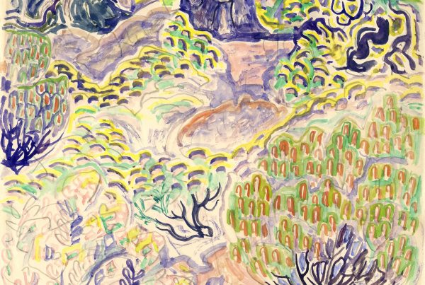 Marsh, Shrubs, and Trees, ca. 1960 Watercolor on paper