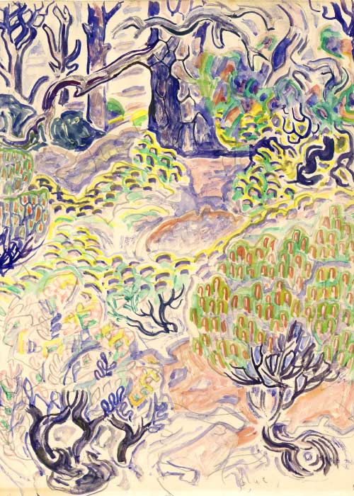 Walter Anderson Marsh, Shrubs, and Trees, ca. 1960 Watercolor on paper Courtesy of the Walter Anderson Museum of Art