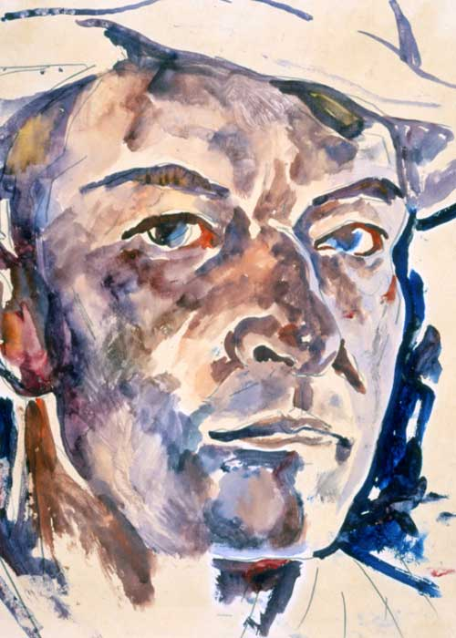 Walter Anderson, Self Portrait, ca. 1960 Watercolor on paper Courtesy of the Walter Anderson Museum of Art