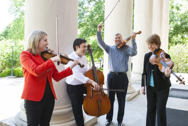 Members of the Samford String Quartet