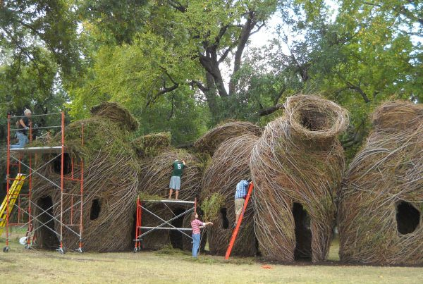 Ready or Not, Patrick Dougherty, North Carolina Zoo, Asheboro, North Carolina (2013)