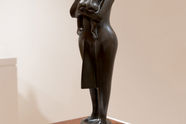 Elizabeth Catlett, Standing Mother and Child Bronze Cast ca. 1990s