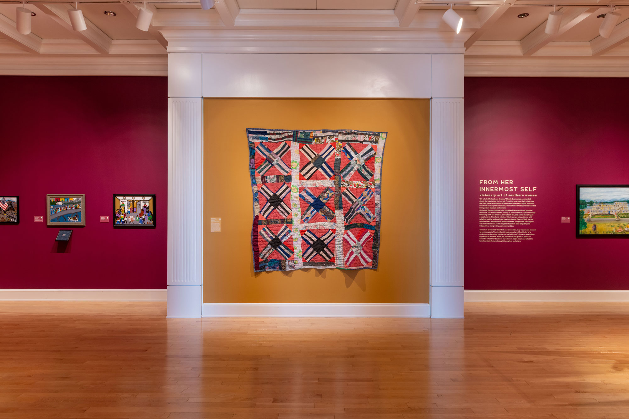 Gallery installation of quilt