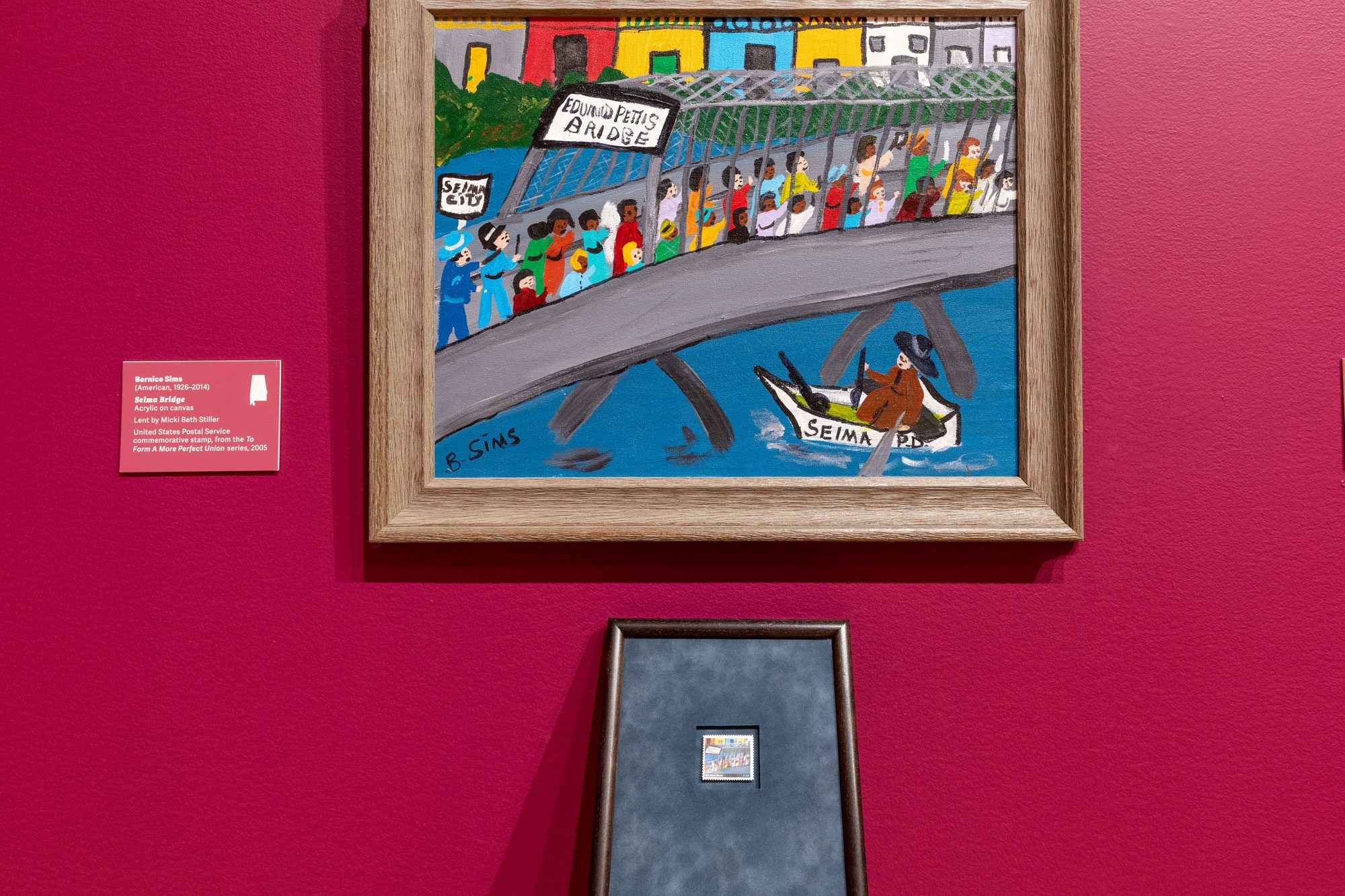 "Outsider art painting of ""Bloody Sunday"" in Selma"