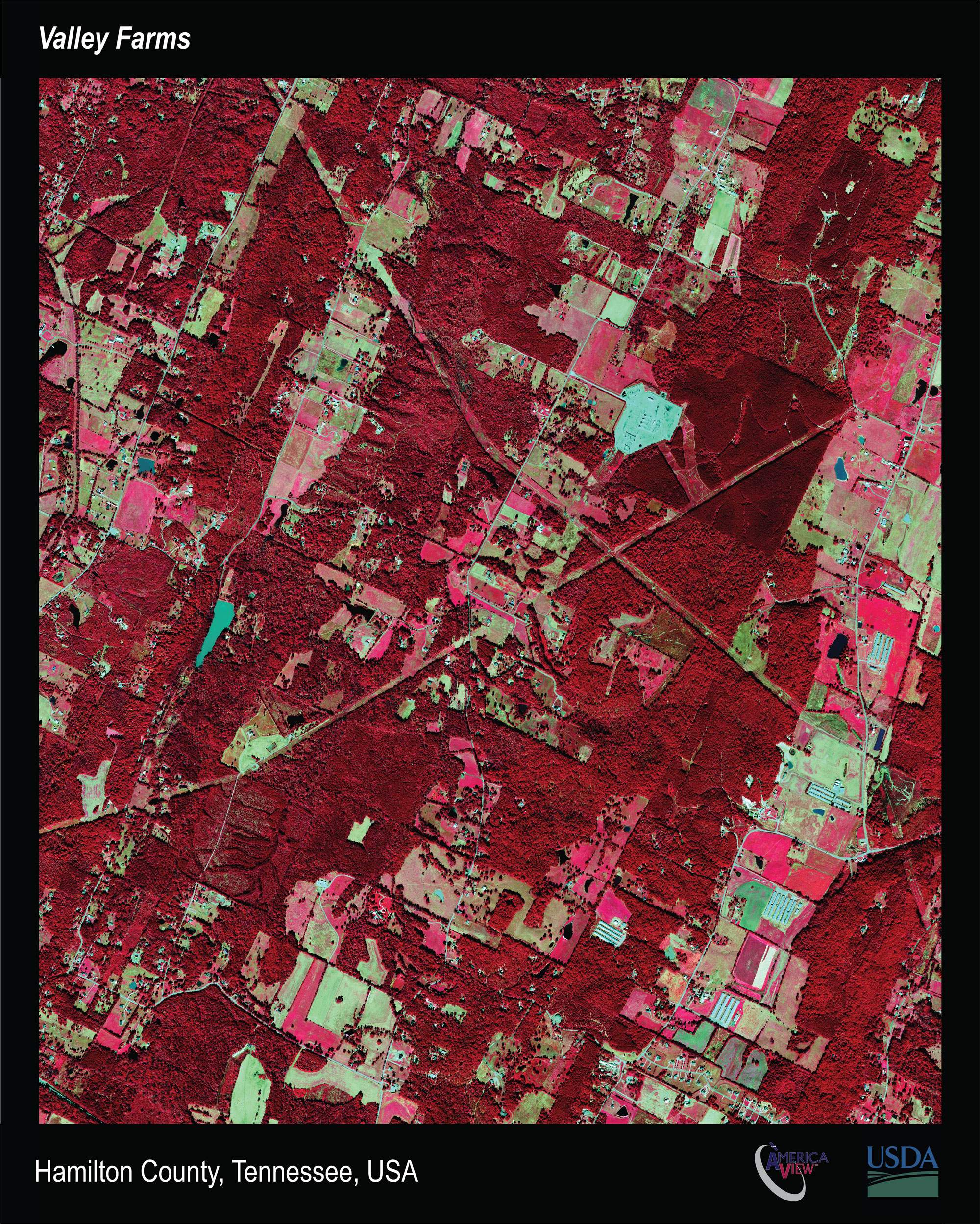 Satellite images of Hamilton County, Tennessee