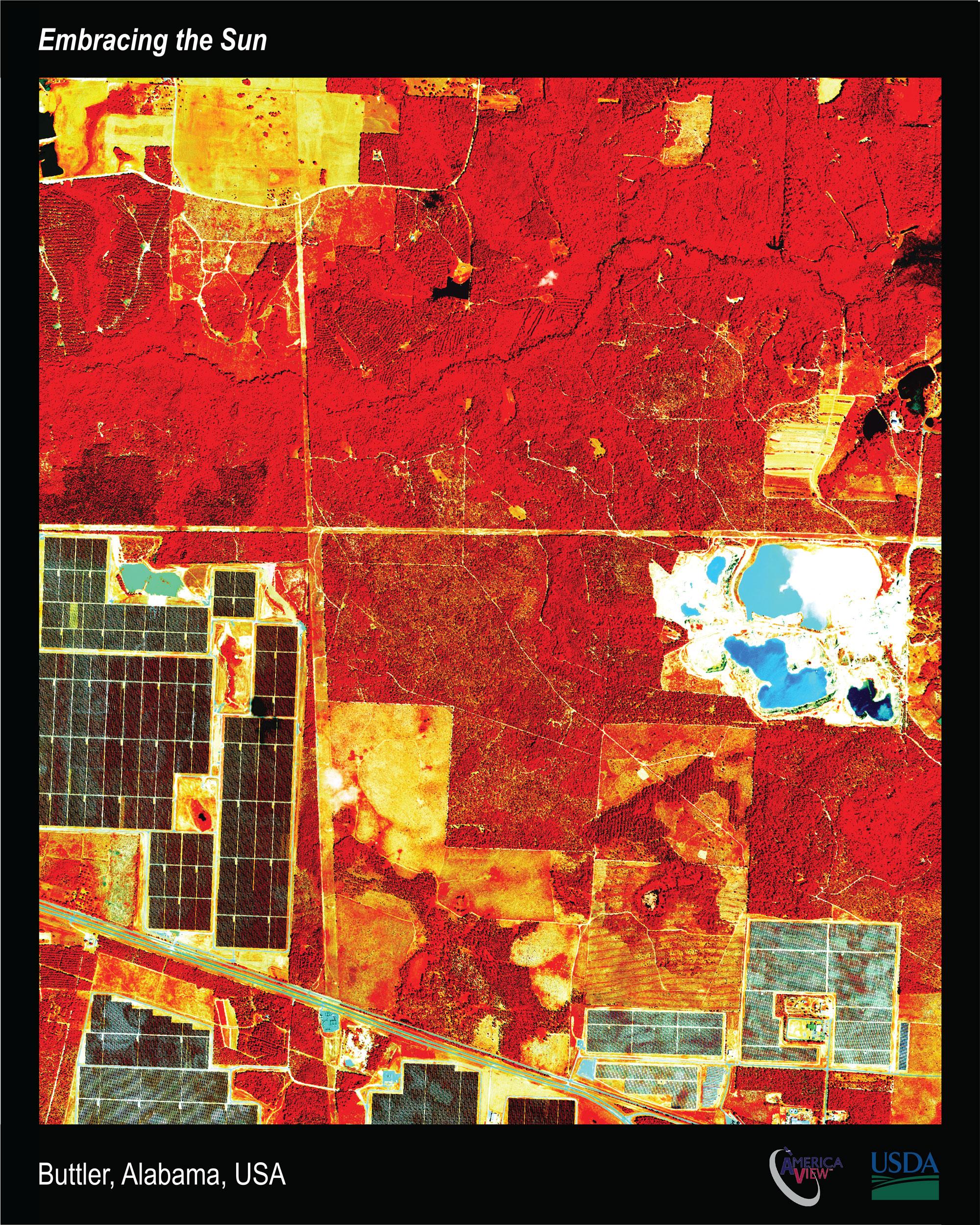 Satellite imagery of solar panels in Georgia