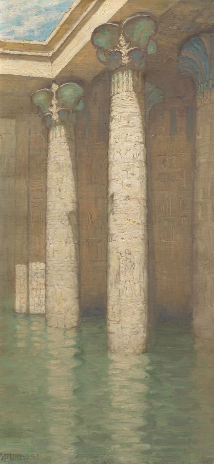 Ancient columns rise out of tranquil waters.