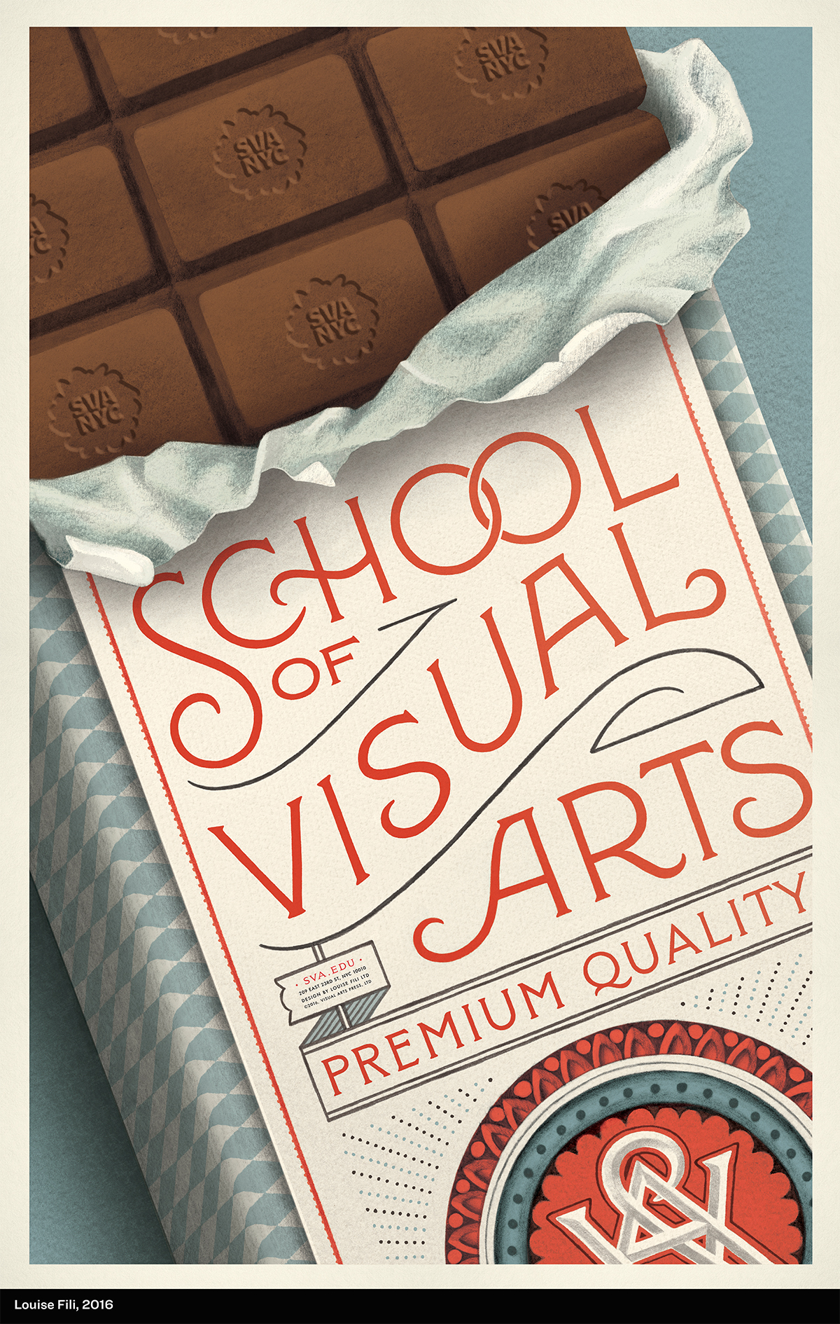Poster advertising School of Visual Arts