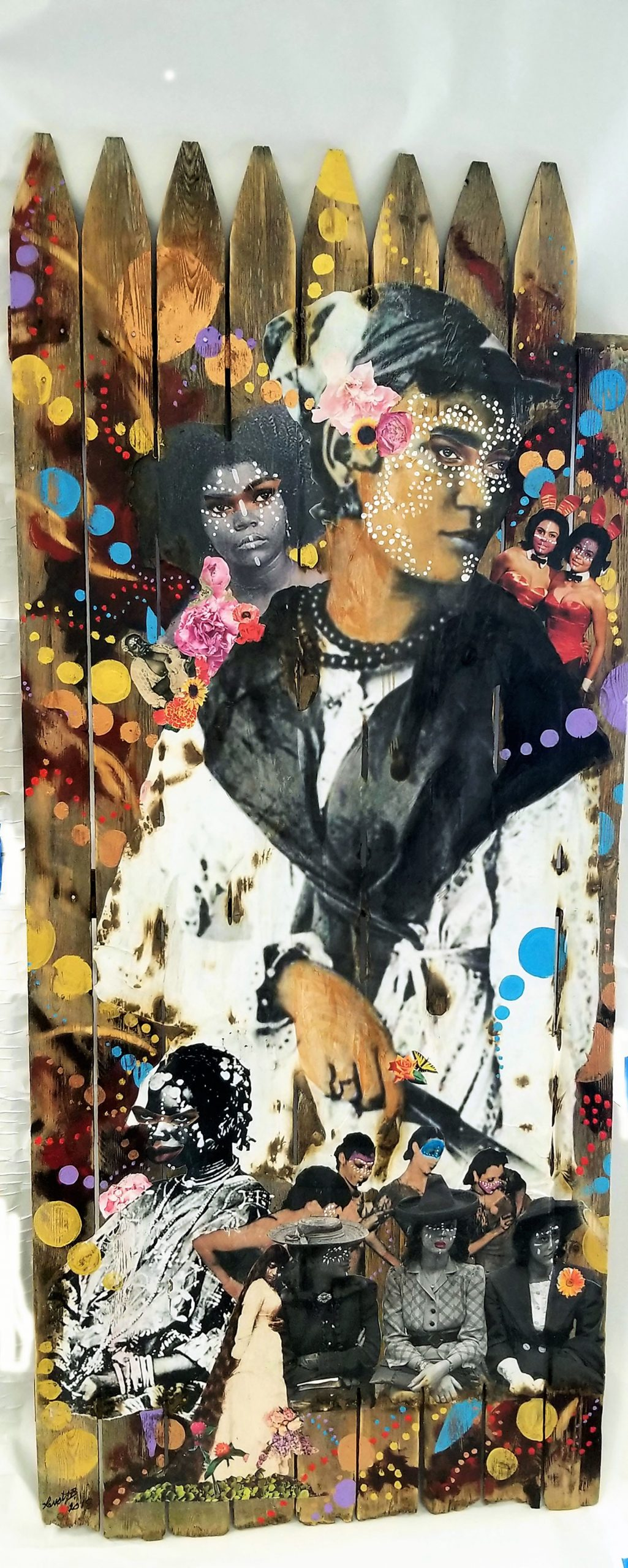 Mixed media of Black women throughout history.