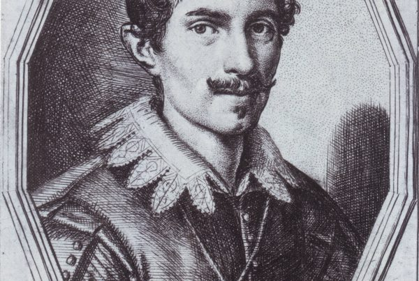 Portrait of Gian Lorenzo Bernini, 1622, Burin and drypoint on paper,