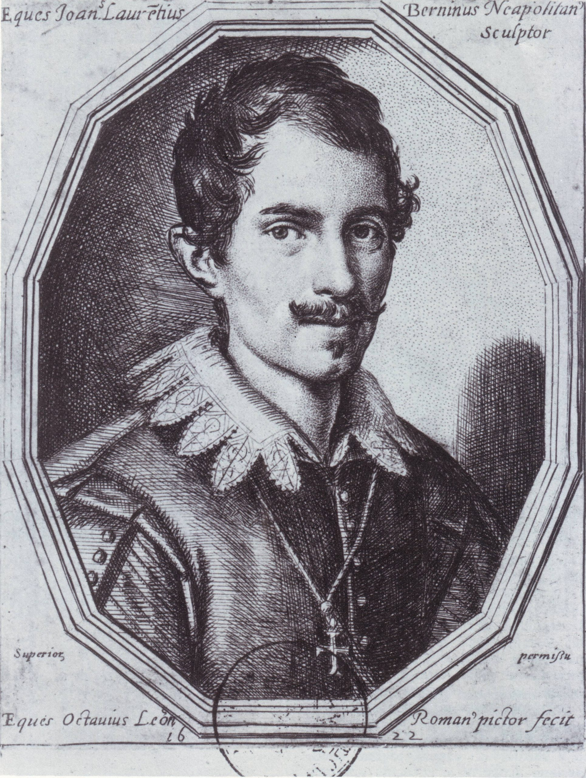A young man with short hair wears a jacket with elaborate collar and cross necklace.