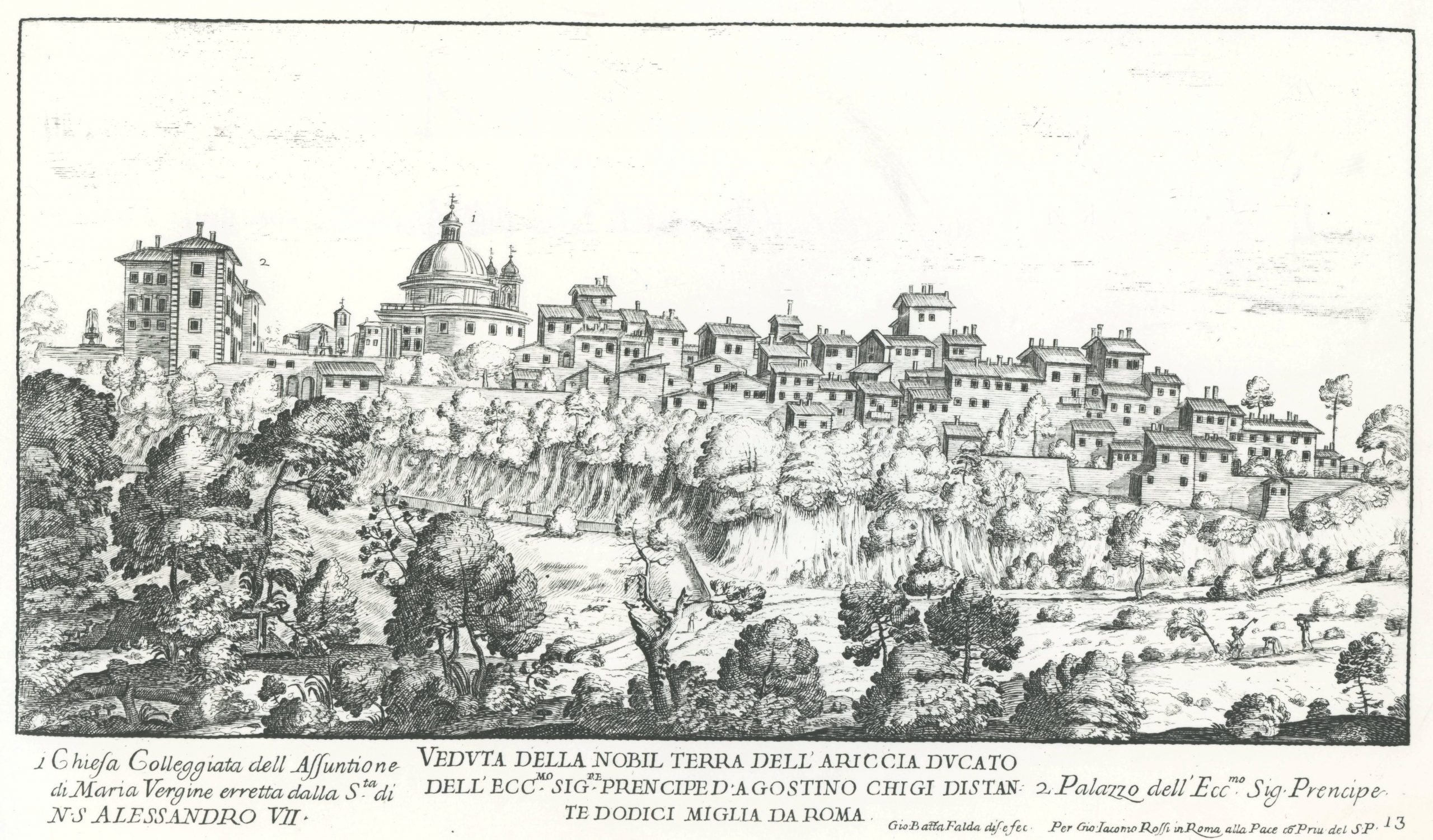 City scape featuring the palace and small houses