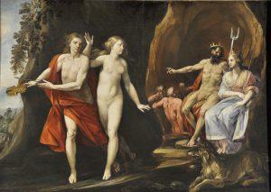 "Giuseppe Cesari, called ""Cavalier d'Arpino"", Orpheus and Eurydice, 1620-25, Oil on canvas, Couretesy of Collection Lemme, Palazzo Chigi, Ariccia."