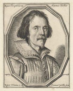 Portrait engraving by Ottavio Leoni (1621)