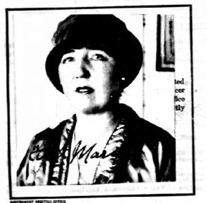 Ethel Mars, 1924 (passport photo)