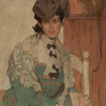 Ethel Mars, Woman with a Monkey, by 1909 - May be self portrait
