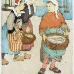 Le panier de poissons, eau-forte en couleur (1910), Maud Hunt Squire