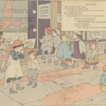 """""""Wealth"""" from Children of Our Town, 1902, written by Carolyn Wells and illustrated by Ethel Mars and Maud Hunt Squire"""