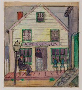 Mars, Ethel 1876-1959 Untitled (Storefront) DATE: ca. 1916-19
