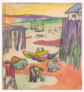 ARTIST Squire, Maud Hunt 1873-1934 Untitled (Clam diggers, Provincetown) DATE: ca. 1915