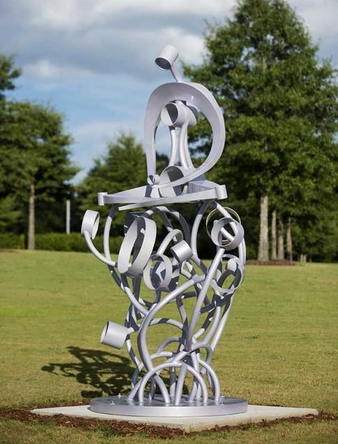 Claudia Jane Klein  (Florida, b. 1948)  Shanti , 2007  Aluminum, epoxy powder coating, marine urethane, metal flake, wax