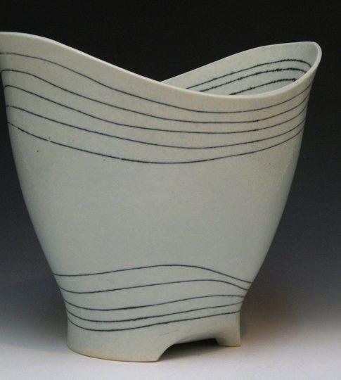 Susie Bowman  (Fairhope, Alabama, b. 1957 Vessel, 2013 Soda-fired porcelain 9 H x 8 1/2 W x 8 D inches