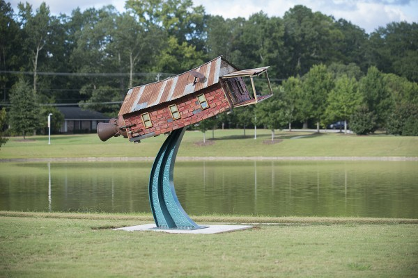 Honorable Mention: Robbie Barber (Waco, Texas, b. 1964), Dreams of Flying, 2011, welded steel, paint, found objects