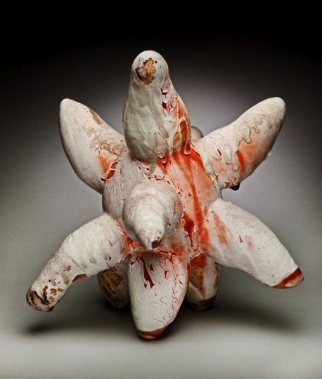 Jorie Berman (Athens, Georgia, b. 1978)  Star, 2013 Anagama-fired stoneware and glaze 14 H x 15 ½ W x 16 D inches