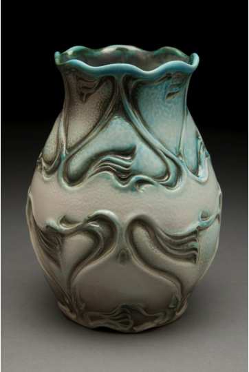 Lora Rust (Atlanta, Georgia, b. 1961) Nouveau Soda Vase, 2013 Porcelain  9 H x 7 W x 7 D inches