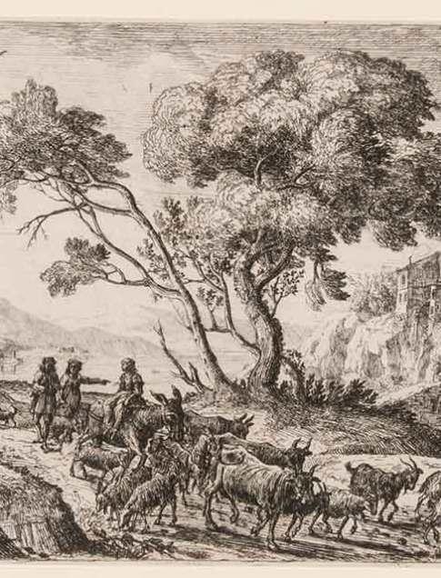 Claude Gellée, called Le Lorrain (French, 1600–1682) Le Départ pour les champs (Departure for the fields), ca. 1638–41 Etching Third state B Courtesy Pia Gallo