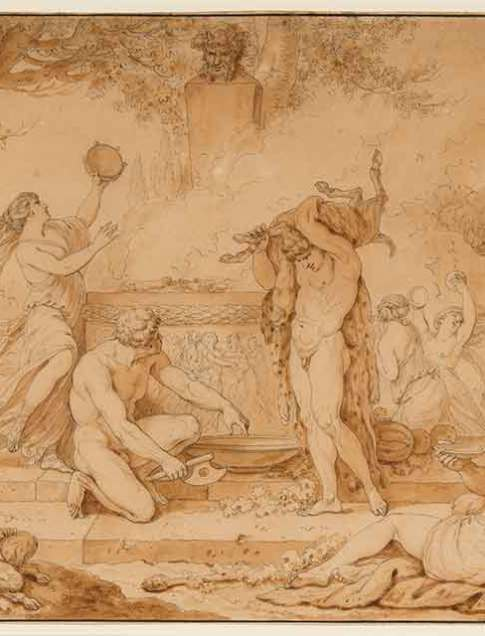Jean-Jacques-François Le Barbier, called Le Barbier l'aîné (French, 1738–1826) L'Offrande à Pan (The Offering to Pan), ca. 1770 Pen and ink with various shades of brown washes Courtesy Richard A. Berman