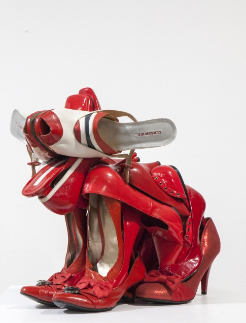 Willie Cole (American, b. 1955) MBF (Man's Best Friend) IV, 2014 Shoes and metal wire Ca. 17 x 15 x 22 inches All images courtesy Willie Cole and beta pictoris gallery