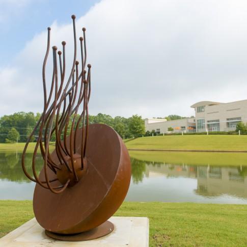 Adam Walls (North Carolina, b. 1974), Core 3, 2014, steel, ca. 78 x 42 x 58 inches