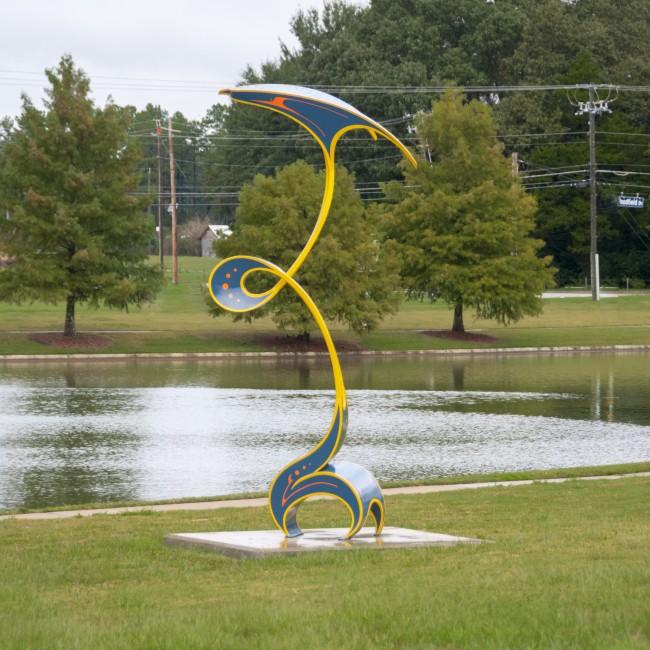 Luke Achterberg (Kentucky, b. 1980), Fettle, 2011, painted steel, ca. 138 x 48 x 42 inches