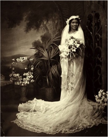 James Van Der Zee (American, 1886–1983) A Bride, 1939 Vintage gelatin silver print Signed and dated in pencil on verso Courtesy of Howard Greenberg Gallery