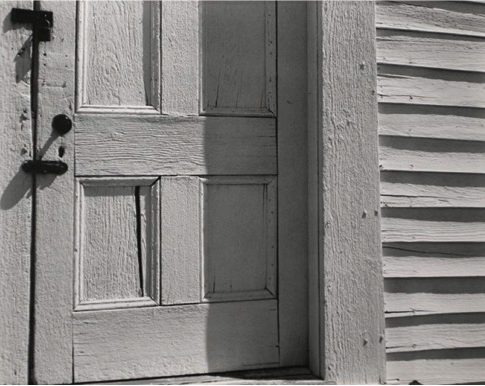 Edward Weston (American, 1886–1958) Church Door, Hornitos, 1940 Printed ca. 1951–52 Initialed and dated on mount Gelatin silver print mounted to board Courtesy of Bruce Silverstein Gallery